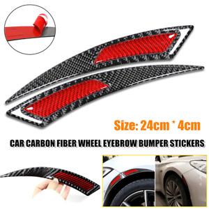 Car Carbon Fiber Wheel Eyebrow Bumper Sticker Rim Anti-Scratch Stripe Tape Decal