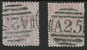 SG141. 2&1/2d.Rosy-Mauve Plates 5 & 6. Used With A25 Cancel Of Malta. Ref:12111