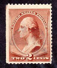 US # 210 (1883) 2c Used Grade: Fine - EFO: Guide Line Arrow 1/200