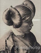 1900/72 Big Folio NATIVE AMERICAN INDIAN Hopi Girl Hair Photo Art, EDWARD CURTIS