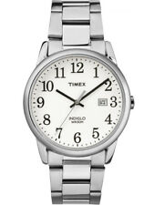 Timex TW2R23300 Men's Indiglo Silver Tone Metal Band Easy Reader Date Watch