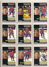 1991-92 Pinnacle English Montreal Canadiens Team Set (21) Patrick Roy Etc.