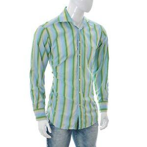 GANT Men's Liberty Bell Poplin Dress Fit Long Sleeve Shirt Medium Multi Striped