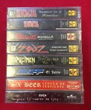8 Spanish Punk/Death/Metal CASSETTE LOT CUCA TRANSMETAL SIX BEAR NEXT ESPÉCIMEN
