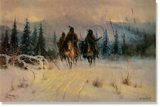 "** ""THE LAND OF THE BLACKFEET"" LIMITED EDITION PRINT BY G. HARVEY **"