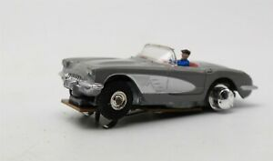 Vtg Aurora slot car Gray Corvette Runs Nice