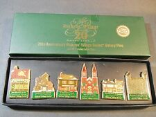 Dept 56 2003 20th Anniversary Dickens Village Historical Collectors Set 6 Pins