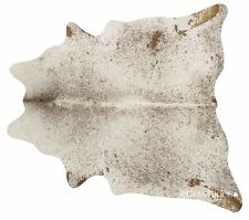 Brown Salt & Pepper Brazilian Cowhide Cow Hide Area Rugs Leather Size LARGE