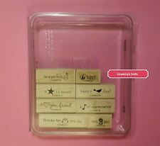 Stampin Up PICTURE THIS owl pear bee bird note star heart sentiments EUC (605)