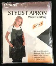 """BRAND NEW #3921 ANNIE BLACK STYLIST APRON WATERPROOF 27"""" x 30"""" WAIST TIE-STRING"""