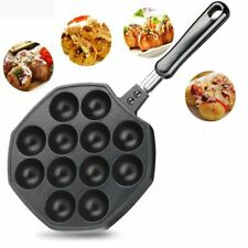 12Hole Takoyaki Pan Plate Tray Octopus Ball Maker Kitchen Baking Mold HOTSALE