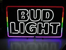 NEW Bud Light Gay Pride Rainbow LGBT Interest Beer Bar Neon Light Sign Parade