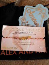ALEX AND ANI Precious Threads Seahorse With Red Braid  Bracelet