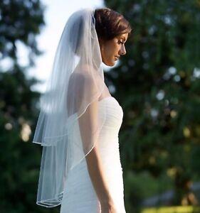 Women White Bride Hen's Night Prop Head Hair Trim lace Wedding Veil WITH COMB