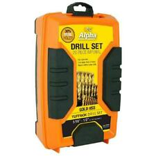 Alpha 29 Piece Imperial HSS Gold Series Drill Bits Tuffbox Set TiNite