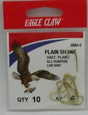 Eagle Claw 089AH-6 Size 6 Gold Offset Hook 22271