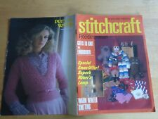 STITCHCRAFT NOVEMBER 1980 - Vintage Knitting & Embroidery Magazine