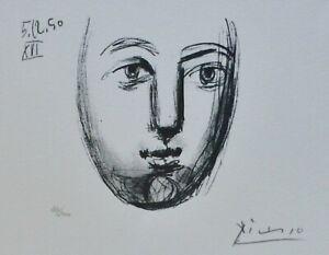 PABLO PICASSO Visage de la Paix 50 XVI HAND NUMBERED 720/2000 signed LITHOGRAPH