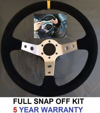 CORSICA DRIFT STEERING WHEEL & SNAP OFF QUICK RELEASE BOSS HUB KIT FIT BMW E36