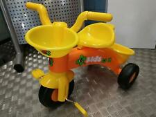 TRICYCLE ORANGE ET JAUNE POUR ENFANTS BEBE PREMIER ENFANT