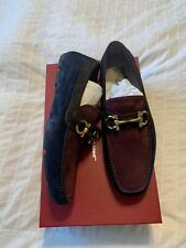 New Auth Salvatore Ferragamo Parigi Men Suede Drivers Shoes Colorblock 9 $695