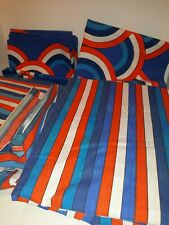 Vintage Retro Vera Collection Striped King Fitted,Flat Sheets 2 pillowcases