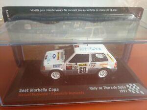 COCHE 1/43, ALTAYA, MODELO SEAT MARBELLA COPA R.  DE TIERRA DE GIJÓN 1991.