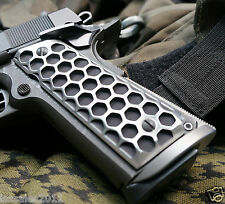 """1911 Grips Government Commander  """"Apocalypse HIVE""""  BRUSHED SURFACE/ BLACK CORE"""