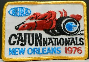 1976 CAJUN NEW ORLEANS CHEVY NATIONALS DODGE NHRA DRAG RACING PATCH HAT JACKET