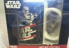 Star wars the force awakens mug new in box stormtrooper blaster lightsaber ren
