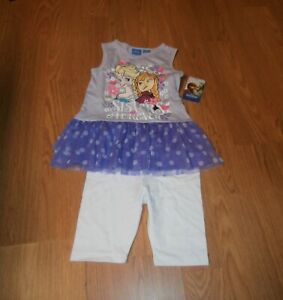 Frozen toddler girls 2 piece bike short set size 5T Brand New with Tags