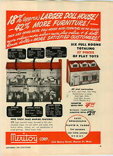 1949 PAPER AD Meritoy Doll House & Furniture Ray Dyne Play Toy Phonographs