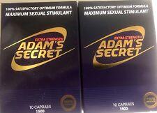 Adam's Secret Male Enhancement Pills Sexual Performance Enhancer 1500 2 Packs