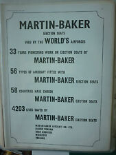 7/1977 PUB MARTIN BAKER EJECTION SEAT SIEGE EJECTABLE 4203 LIVES SAVED AD