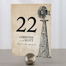 Personalized Rustic Country Wedding Table Numbers