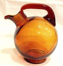 Vintage 1930s CAMBRIDGE Glass AMBER BALL TILT DECANTER MINT Without Stopper