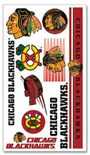 Chicago Blackhawks Temporary Tattoos 10 Pack [NEW] NHL Stickers Tattoo CDG