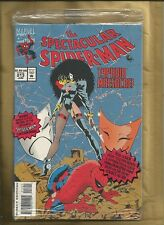Spectacular Spider-Man 213 1994 Blue cover Polybagged with booklet Marvel Comics