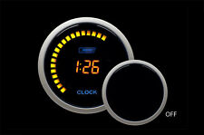 "12 volt Digital Clock 52mm 2 1/16"" Amber LCD Clock"