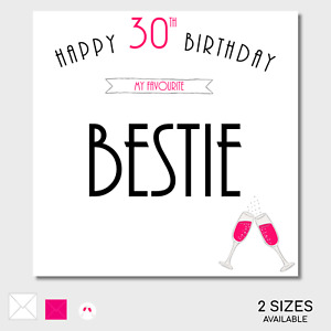 BIRTHDAY CARD Bestie Friend Mate Age Personalise Make it Personal OPTIONS