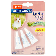 Hartz UltraGuard EAR MITE TREATMENT for CATS Contains Aloe PET CARE Cat Supplies