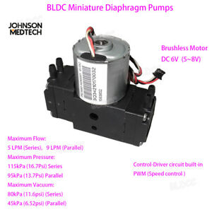 AE60001 Miniature Vacuum Daphragm Pump 6V/5V Brushless Motor Dual Head Air Pump
