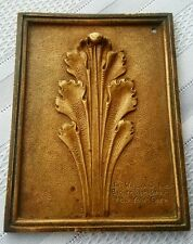 Antique Architectural Bronze Tile design by Jno Williams Inc NYC 1910c