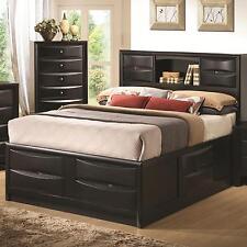 Coaster 202701KE Briana East King Storage Bed In Black With Bookshelf