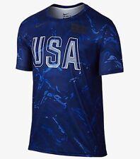 Nike Usab Para Hombre Training Top 'Royal Azul Blanco' (L) 835769 100