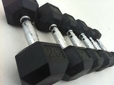 KINGSTON Hexagonal Dumbbell KINGSTON FULL SET 4kg - 25kg BRAND NEW WITH RACK