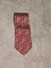 Salvatore Ferragamo Animal Print Classic Width Red Silk Tie