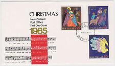 (SSB-87) 1985 NZ FDC 3 stamps Christmas (K)