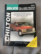 New listing General Motors Full Size Trucks 1988-1998 Chilton Repair Manual 28624 A