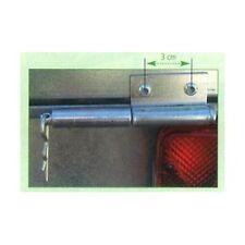 Charnière complète pour ridelle arrière de remorque